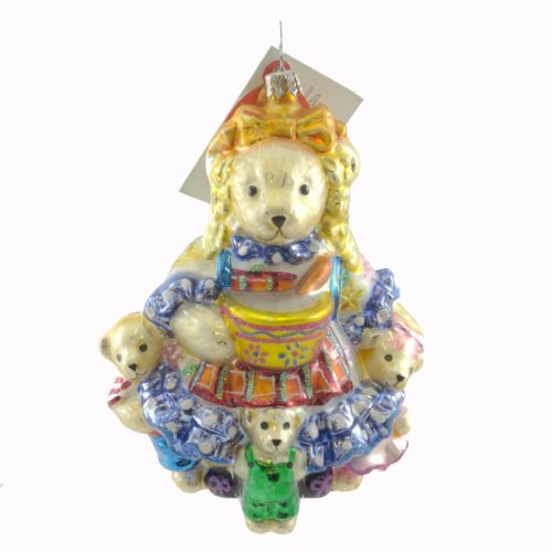 Christopher Radko MUFFY LOCKS AND THE THREE BEARS Ornament Fairy Tale Goldie