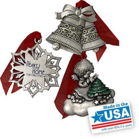 Gloria Duchin Traditional Christmas Ornament 3-Piece Set