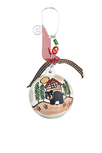 Glory Haus Black Bear Ball Ornament, 4.5″