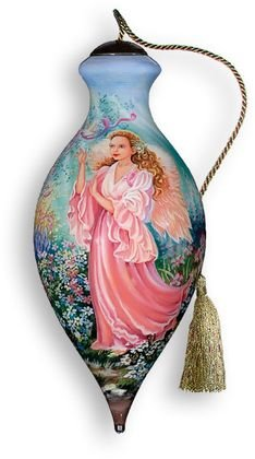 NEQWA Hand Painted Glass Ornament Dawn of Hope