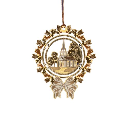 ChemArt Wreath with Country Church Ornament
