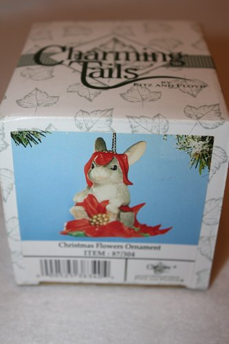 CHARMING TAILS CHRISTMAS FLOWERS ORNAMENT