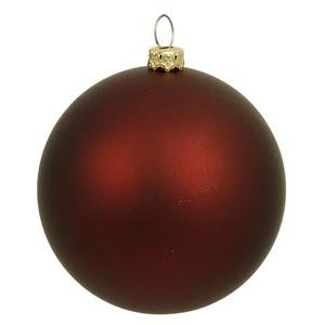 Vickerman 6″ Burgundy Matte Ball Ornament 4 per Box