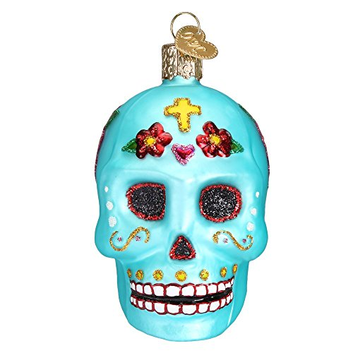 Old World Christmas Day Of The Dead Glass Blown Ornament