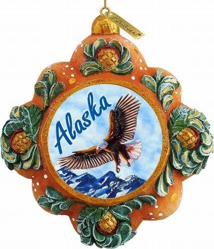 G. Debrekht Alaska Majestic Eagle Scenic Ornament, 3.5″