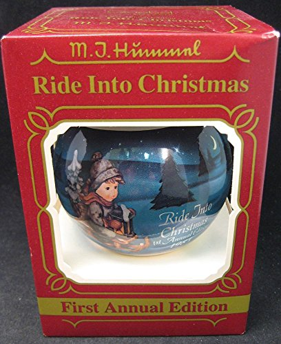 M.I. Hummel Christmas 1983 Glass Ball Ornament by Goebel – 1st Annual Edition