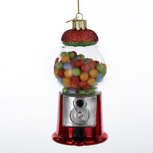 Kurt Adler 4-1/2-Inch Noble Gems Glass Gumball Machine Ornament
