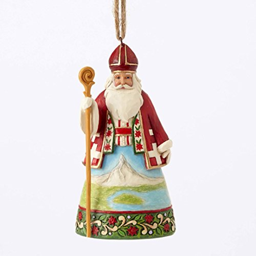 Jim Shore Heartwood Creek, Swiss Santa Ornament