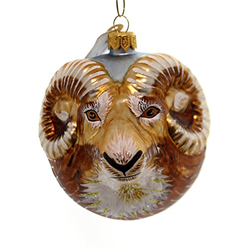 Christina's World RAM ORNAMENT Glass Male Bighorn Sheep Zoo895