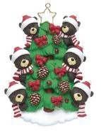 Bear Tree Family of 6 Ornament by Rudolph and Me Ornaments