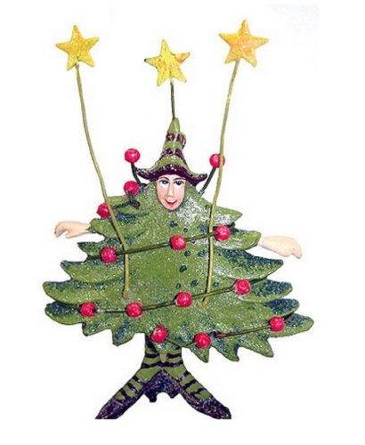 Department 56 Krinkles Tree Woman Mini Christmas Ornament #37878
