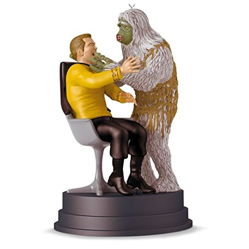 "Hallmark 2016 Christmas Ornament STAR TREK ""The Man Trap"" Kirk and Salt Monster Ornament With Sound"