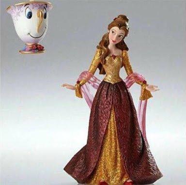 Enesco Disney Showcase Christmas Belle & Chip Ornament Figurine, 8.125″
