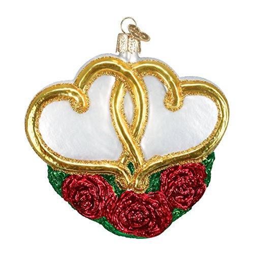 Old World Christmas Entwined Hearts Glass Blown Ornament