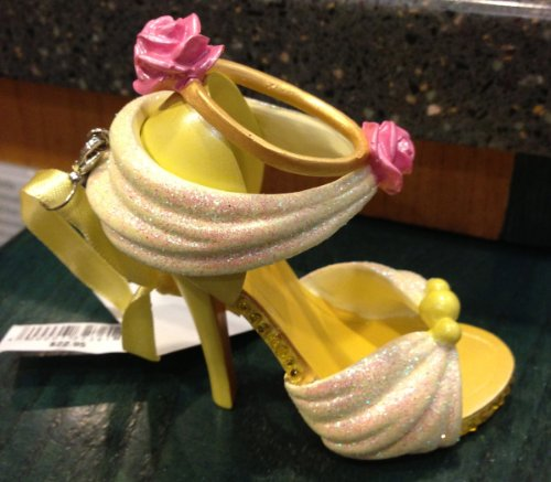 Disney Parks Belle Beauty and the Beast Shoe Figurine Ornament NEW
