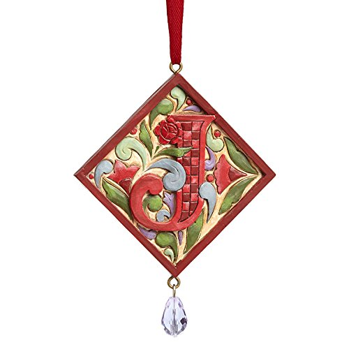 Jim Shore for Enesco Heartwood Creek Monogram J Hanging Plaque, 4″