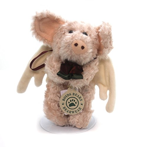 Boyds Bears Plush LORELEI ANGEL PIG Fabric Ornament Jointed Wings 56141