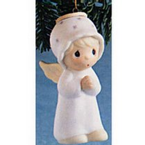 "Precious Moments Retired Girl Angel Ornament ""The First Noel"" (#E2368)"