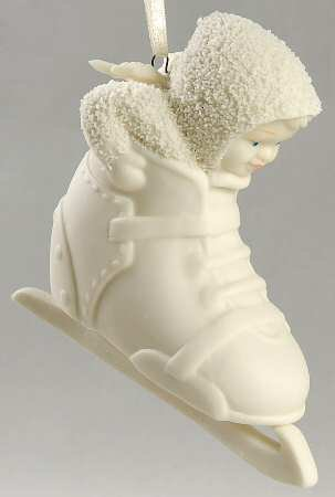 "Department 56 Snowbabies ""Seven, Eight, Time To Skate"" Bisque Bootiebaby Ornament #56.68886"