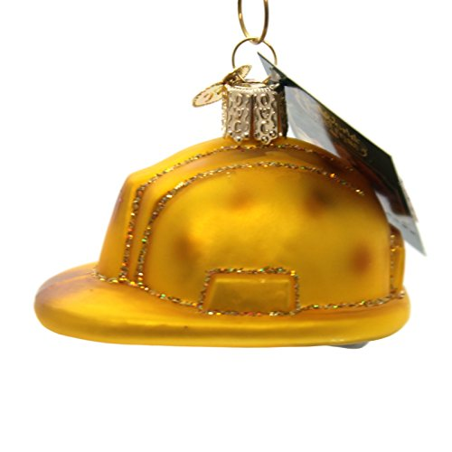 Old World Christmas Construction Helmet Glass Blown Ornament