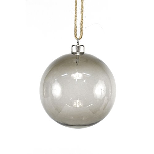 Sage & Co. XAO19530SV Transparent Glass Ball Ornament (4 Pack)
