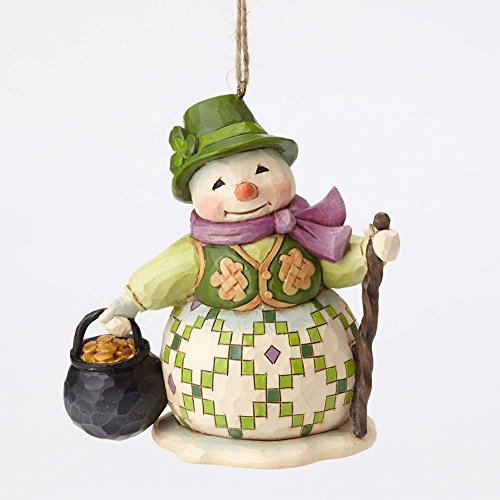 Jim Shore Heartwood Creek, Irish Snowman Ornament