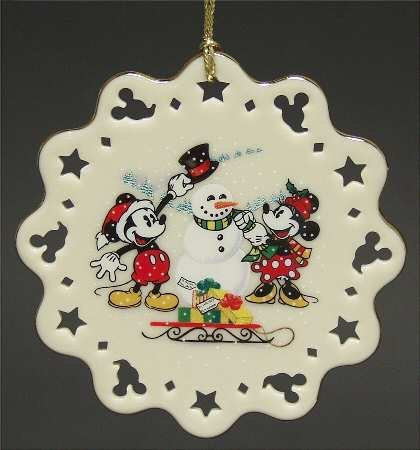 Lenox Mickey and Co. Building Snowman #9195303