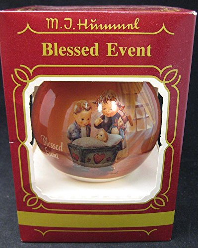 """M.I. Hummel Glass Ball Ornament by Goebel """"Blessed Event"""" 1983"""