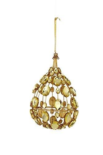 Sage & Co. XAO17308GD 7 Jeweled Medallion Drop Ornament by Sage & Co.