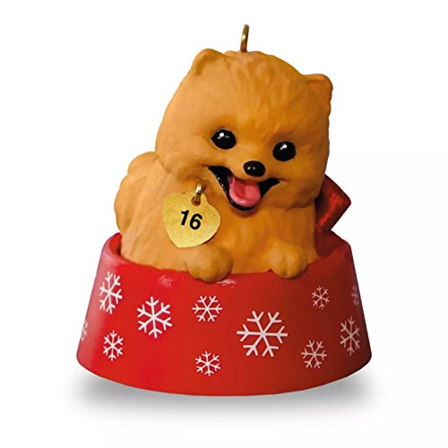Hallmark 2016 Christmas Ornaments Puppy Love Pomeranian Ornament