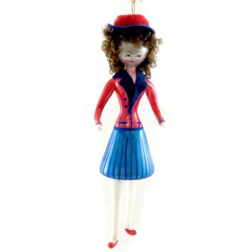 De Carlini LADY OF 40'S SAILOR DRESS Blown Glass Ornament Uniform DO7378