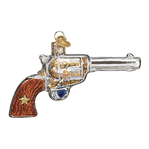 Old World Christmas Western Revolver Glass Blown Ornament