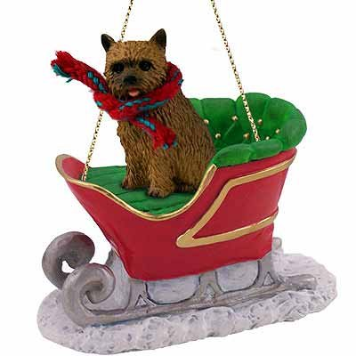 Norwich Terrier Sleigh Ride Christmas Ornament – DELIGHTFUL!