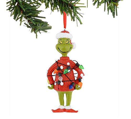 "Department 56 Dr. Seuss ""Grinch Lights Sweater"" Ornament #4041050"