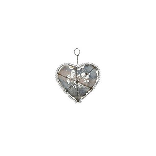 Creative Co-Op Wire & Glass Ornament – Heart