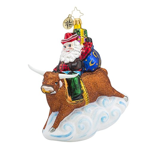 Christopher Radko 8 Second Nick Santa Claus and Animal Christmas Ornament