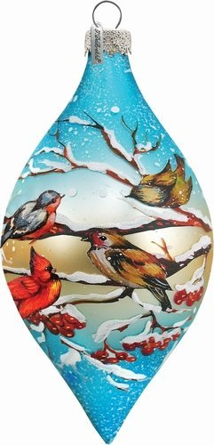 G. Debrekht Winterbird Glass Ornament Drop, 5.5″