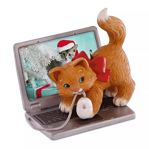 Hallmark 2016 Christmas Ornaments Mischievous Kittens Computer Mouse Ornament
