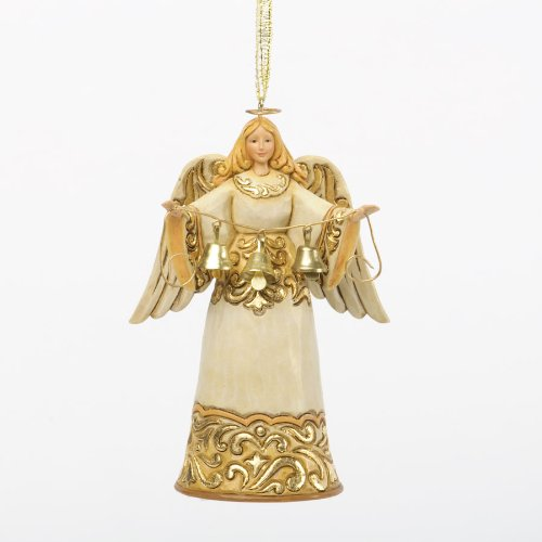 Jim Shore Department Store Series Holiday Ornament – Ivory & Gold Angel
