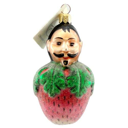 Christopher Radko PETITE PIERRE Blown Glass Ornament French Strawberry