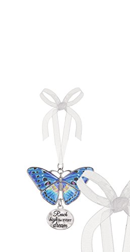 Ganz Home Decor Christmas / Spring Blissful Journey Butterfly Ornament (Reach high for every dream EA13542)