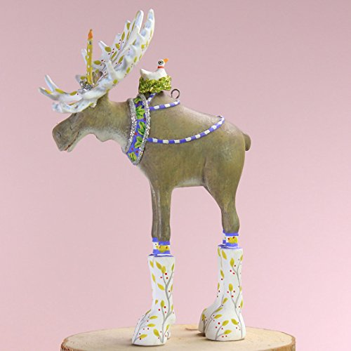Patience Brewster Christmas Home Decor Mini Milton Moose Ornament