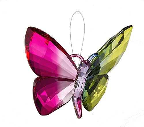 Ganz Crystal Expressions Ornament 5″ – Hanging Rainbow Butterflies (Design 2)