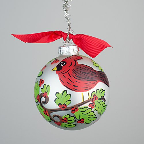 Glory Haus Red Cardinal Glass Ornament