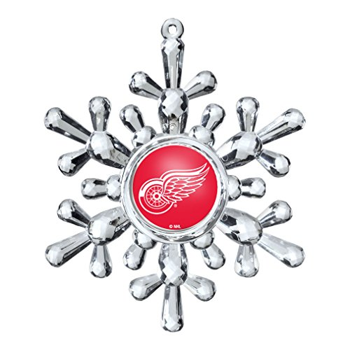NHL Detroit Red Wings Snowflake Ornament