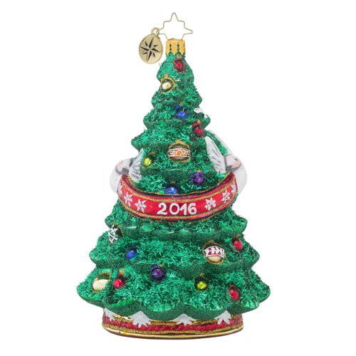 Christopher Radko Dated 2016 and Adorned Dated 2016 Christmas Tree Ornament
