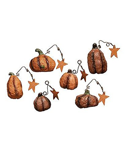 Primitives By Kathy Miniature Ornaments _ Prim Pumpkin Patch 12pc Set #9633