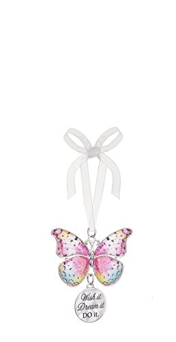 Ganz Home Decor Christmas / Spring Blissful Journey Butterfly Ornament (Wish it. Dream it. Do it.  EA13553)