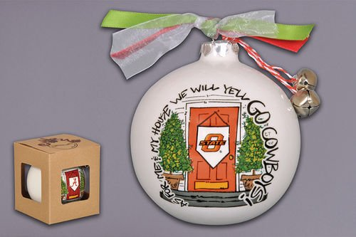 """As For Me And My House"" Holiday Ornament (Oklahoma State Cowboys)"