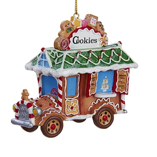 Kurt Adler Resin Gingerbread Truck Ornament #D2587